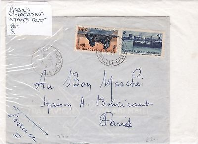 france caladonian stamps cover Ref 8470