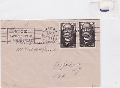 france 1951 stamps cover Ref 8466