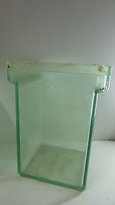 Large Antique Clyde Thick Heavy Glass Battery Jar  Scientific  Vase Storage