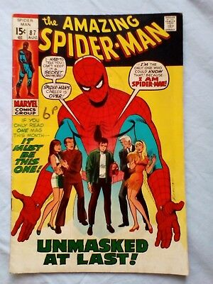 Amazing Spider-Man 87 (1970) Mary Jane & Gwen Stacy cover. Prowler app