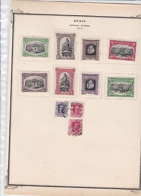 spain stamps on 1 album page  ref 13511