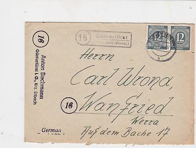 germany 1940s allied occupation stamps cover ref 18681
