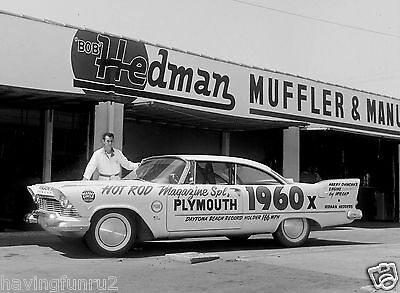 1960 57 Plymouth Hot Rod Magazine advertises Hedman Hedders 8 x 10  Photograph