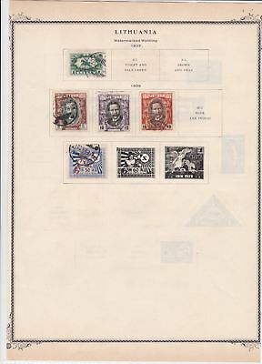 lithuania stamps page ref 17073