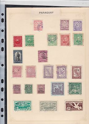 paraguay stamps page ref 17304