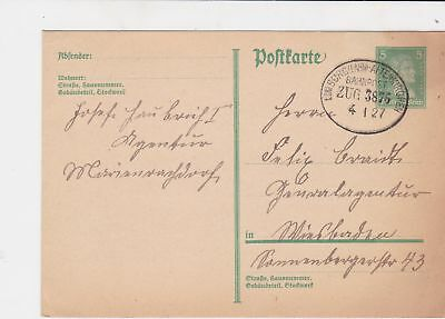 germany 1920s bahnpost railway stamps cover ref 18658
