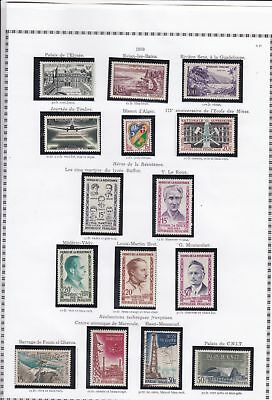 france 1959 stamps page ref 19792