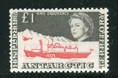 BRITISH ANTARCTIC 1969 £1 HMS Endurance; Scott 24, SG 15a; MNH