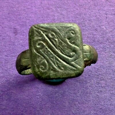 98AB Late Byzantine bronze ring  18mm 5.9g XII-XIII AD