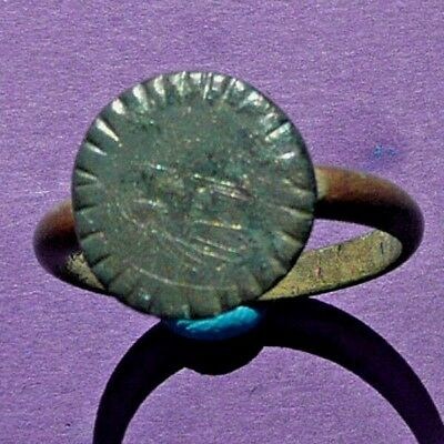 66AB Late Byzantine bronze ring  22mm 5.0g XII-XIII AD