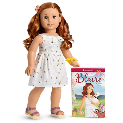 American Girl Blaire Doll & Book 2019 18 Inch New Brand Free Ship With Box