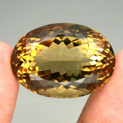Citrine Clean Gem! 47.75ct. Oval 100%natural Unheated Top Yellow Golden Brazil