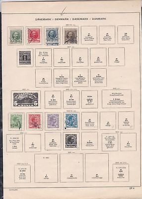 denmark stamps page ref 18171
