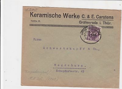 germany 1920s bahnpost railway stamps cover ref 18661