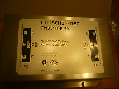 Lot of 3  New Schaffner FN351H-8-29 FN351H829 High Power Filter Three Phase