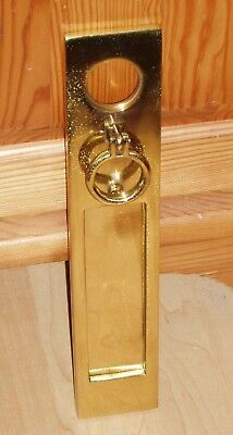 Rothley Brass Letterbox & Door Knocker Combined Solid Polished Brass Vintage