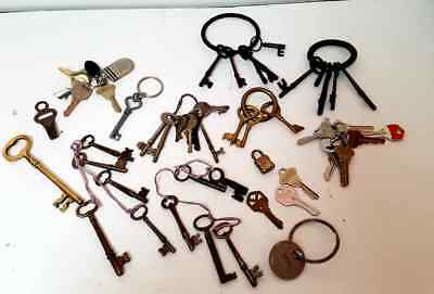 Keys Key Collection From Many Years New Old Skeleton Skate Key Mixed Lot