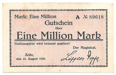 Zeitz - 1 Million Mark - 15.8.1923