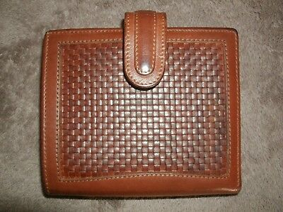 Vintage Coach Brown leather Kiss lock Wallet GUC!