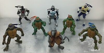 Lot 8 Tortues Ninja TMNT Bundle Vintage - Shredder / Foot Soldier / 4 Turtles