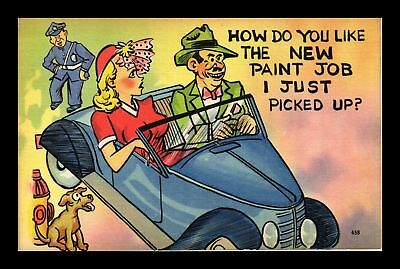 Dr Jim Stamps Us New Paint Job I Just Picked Up Linen Comic Topical Postcard