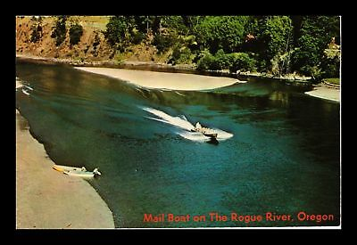 Dr Jim Stamps Us Mail Boat The Rogue River Oregon Chrome View Postcard