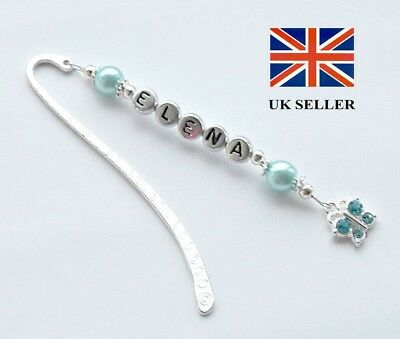 Personalised Charm Birthday Bookmark–Thank You Gift For Friends/teacher-Any Name