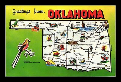 Dr Jim Stamps Us Greetings From Oklahoma Chrome Topical Postcard