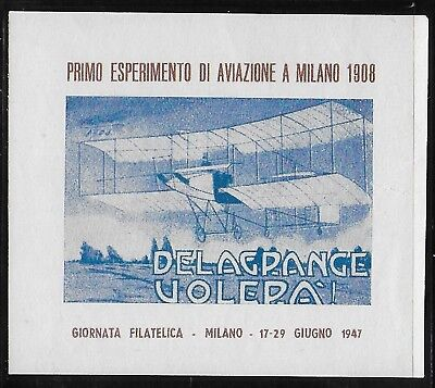 Cinderella  Italy  1947  - Poster   Stamps  Aviation    MNH-VF#  lot  233  4