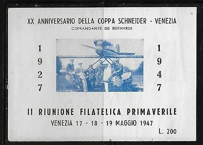 Cinderella  Italy  1947  - Poster   Stamps  Aviation    MNH-VF#  lot  236   5