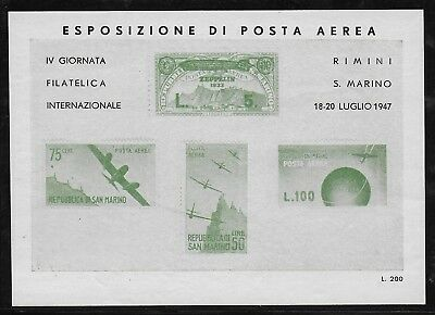 Cinderella  Italy  1947  - Poster   Stamps  Aviation    MNH-VF#  lot  263  3