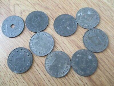Lot of 16 Missouri Sales Tax Tokens 14 one cent and 2 5 cent
