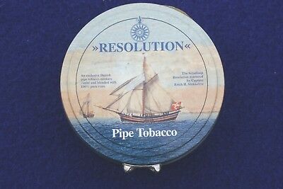 """Vintage Max Rohr """" Resolution""""  Sealed  Pipe Tobacco Tin 100g"""
