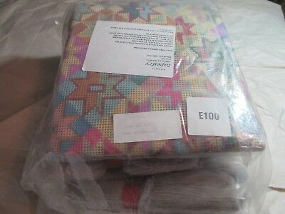 "44"" x 31.5"" Ehrman KAFFE FASSET Needlepoint Tapestry STAR RUG KIT Open/Intact"
