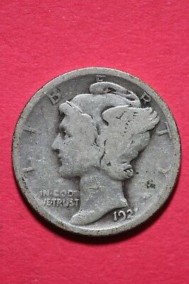 1921 P Winged Mercury Dime Exact Coin Shown 90% Silver Flat Rate Shipping OCE547