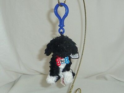6e9aadb9066 Bo TY Beanie Babie 3.5in Portuguese Water dog Blue key clip backpack charm  40798