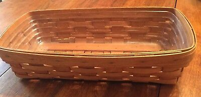 "Vintage Longaberger Serving Basket 1990 14.5""L"