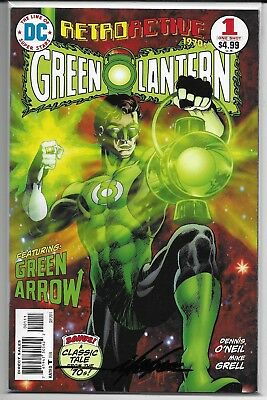 DC Retroactive Green Lantern The 70's 1 Signed Mike Grell Autographed Combined
