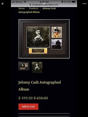 Certified Authentic Johnny Cash Autographed Album