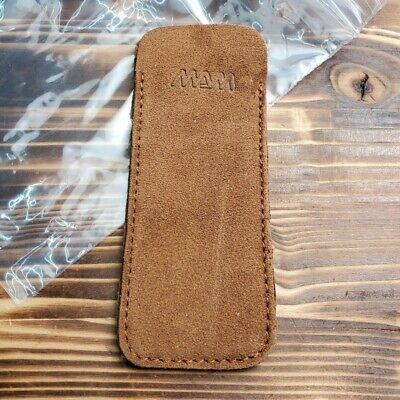 MAM Brown Leather Slip Pouch For Pocket Knife Small Flashlight Tool 3000T
