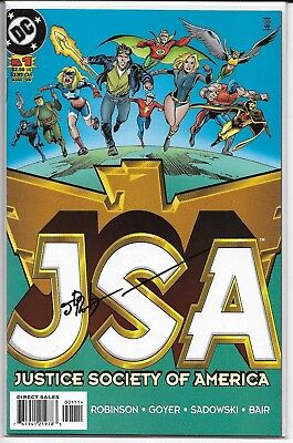 JSA 1 Signed by James Robinson Autographed DC Starman Justice Society of America