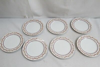 Lot of 7 Porcelain Narumi China Occupied Japan Hartford Red Flower Side Plate