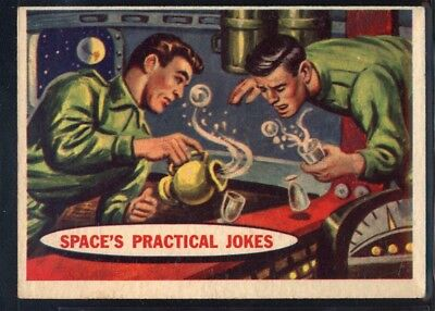 1957 Topps Space Cards #22 Space's Practical Jokes (EX) *689711