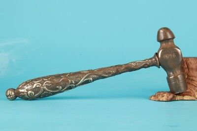 Vintage Chinese Bronze Statue Gift Old Collection Hammer Tools