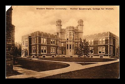 Dr Jim Stamps Us Western Reserve University College For Women Ohio Postcard