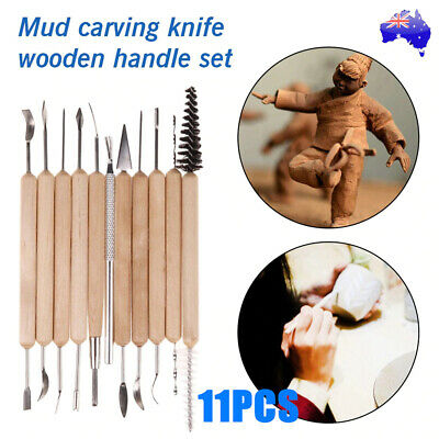11x Sculpting Carving Pottery Tools Carvers Clay Polymer Modeling DIY Sculpture