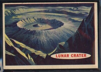 1957 Topps Space Cards #40 Lunar Crater (EX/MT) *689682