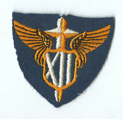 Wwii Original Xii Tactical Air Command White Back Patch Europe