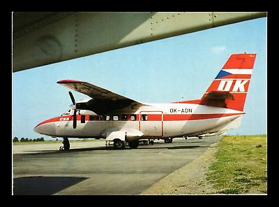 Dr Jim Stamps Ok Adn Czechoslovak Airlines Airplane Continental Size Postcard