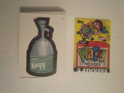 1991 Topps Wacky Packages complete set (55) + (12) variations w/ tatoo &Barfs